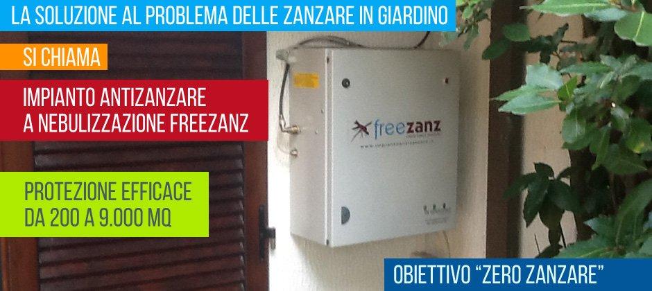 Antizanzare da giardino Freezanz: soluzioni contro le zanzare