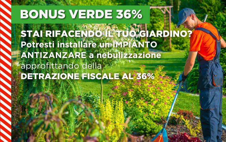 Bonus Verde 2020: come avere un giardino nuovo protetto dalle zanzare