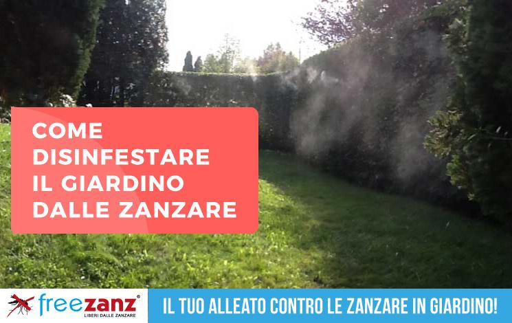 Disinfestazione zanzare in giardino