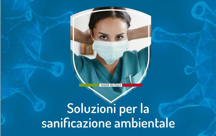 Sanificazione ambienti: prodotti e sistemi professionali